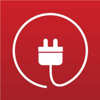 Corded plug icon