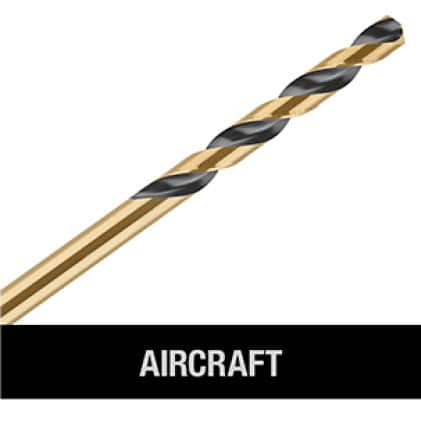 202579647 DW1610  G Black and Gold Drill Bit 3/8 in. x 12 in. AIRCRAFT