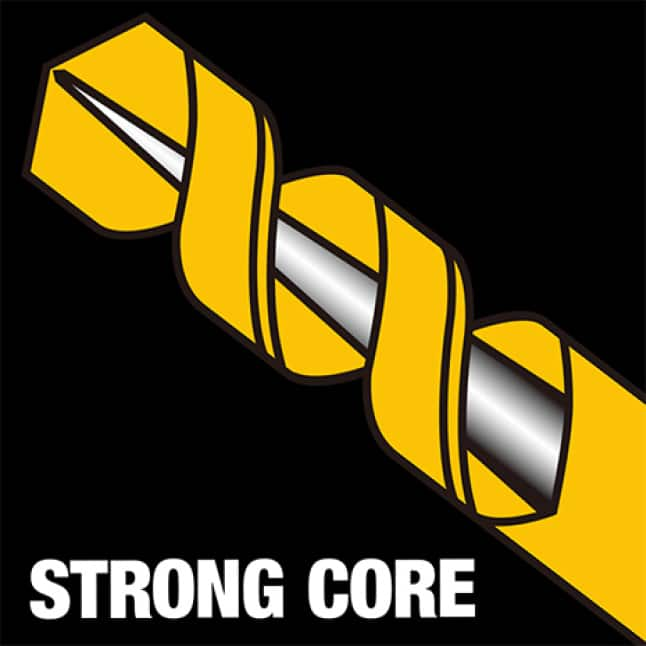 202579647 DW1610  G Black and Gold Drill Bit 3/8 in. x 12 in. Strong Core