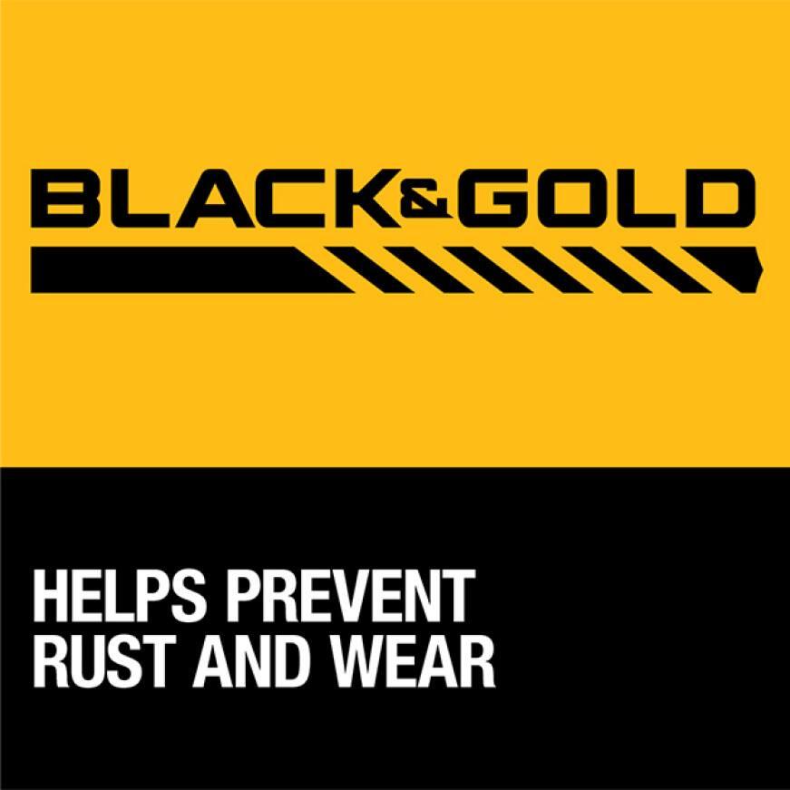 202579647 DW1610  G Black and Gold Drill Bit 3/8 in. x 12 in Black & Gold Metal Drill Bits