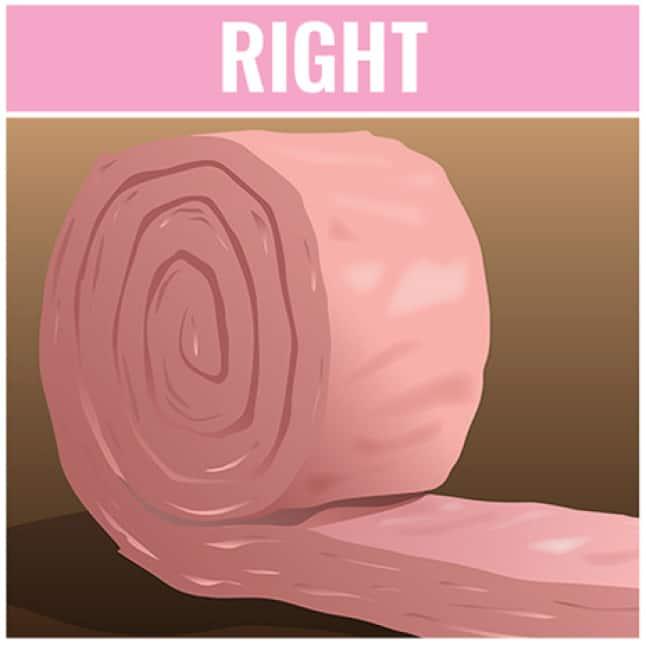roll of pink fiberglass insulation