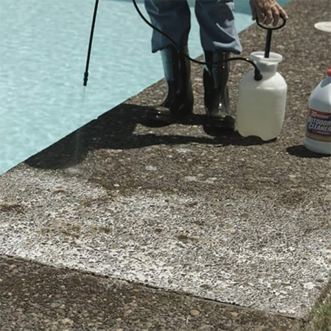 30 SECONDS Outdoor Cleaner Concentrate safe to use on a variety of outdoor surfaces