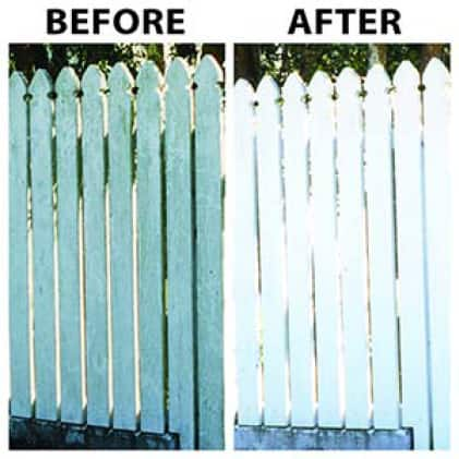 30 SECONDS Outdoor Cleaner Concentrate cleans vinyl and painted metal surfaces