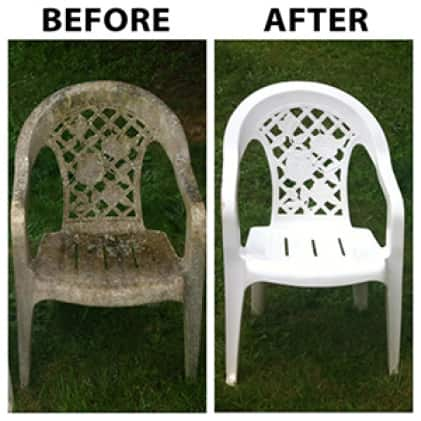 30 SECONDS Outdoor Cleaner Concentrate restores the like new appearance