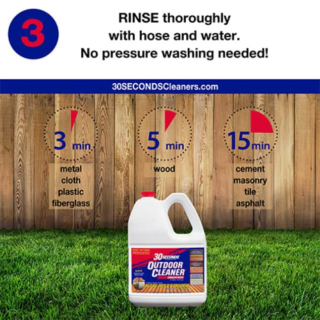 30 SECONDS Outdoor Cleaner Concentrate step 3