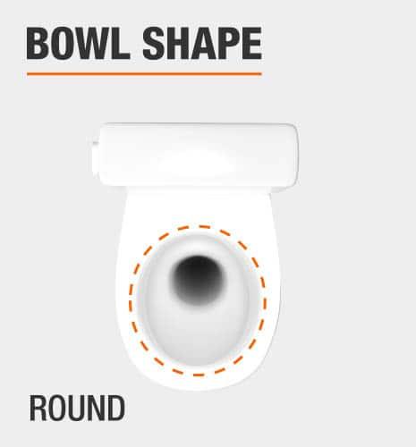 glacier bay round toilet bowl shape