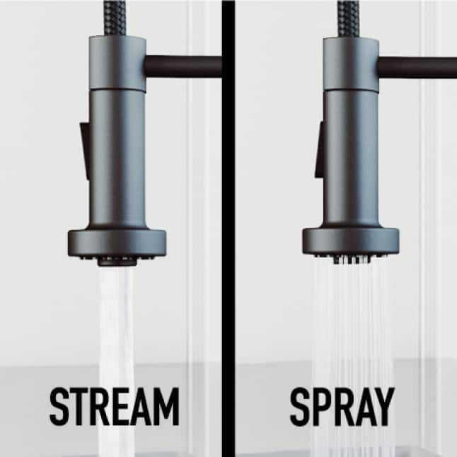 Delivers a powerful spray or a steady stream of water