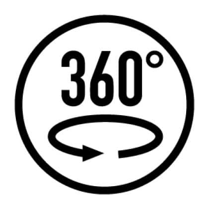 360-degree swivel rotation