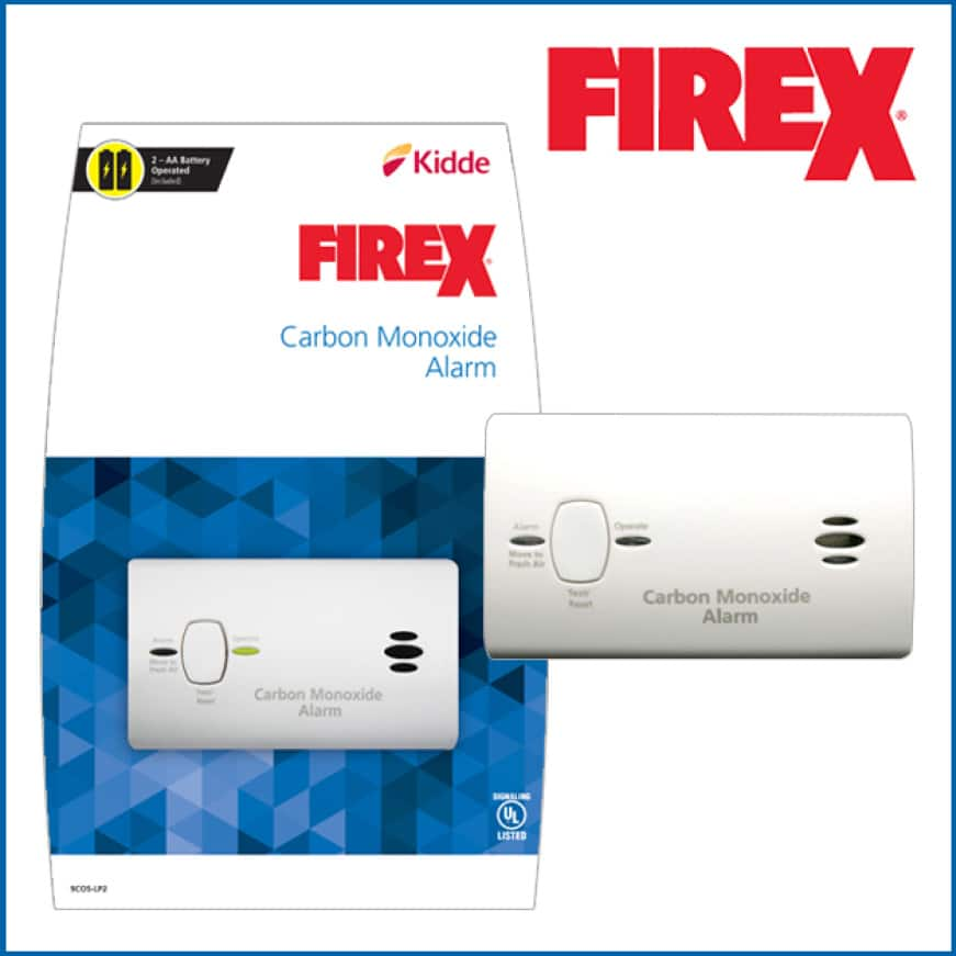 Advanced alarms, Kidde FireX carbon monoxide