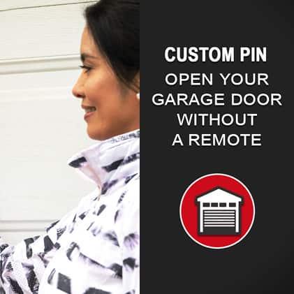 Genie  garage door opener keypad three doors