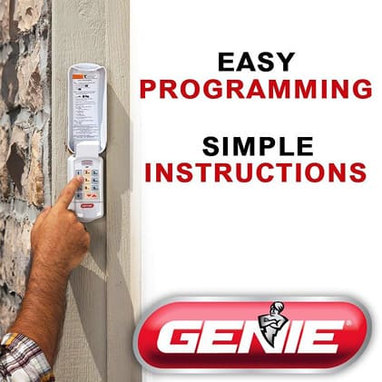 Genie  garage door opener keypad easy programming