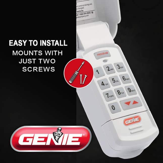 Genie garage door opener keypad install