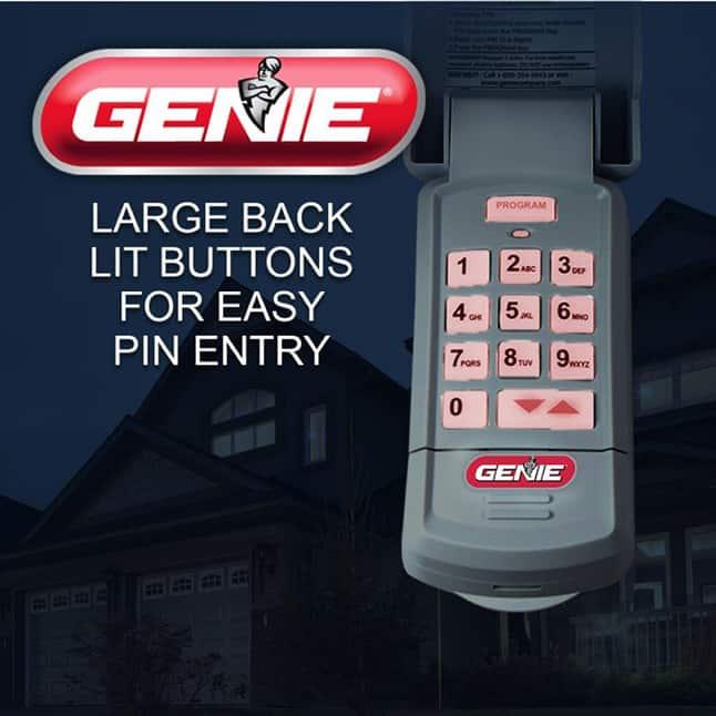 Genie  garage door opener keypad lights