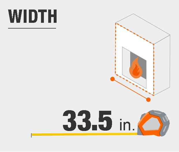 Product dimensions, width.