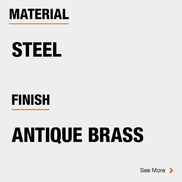 Door Hinge Steel Material and Antique Brass finish