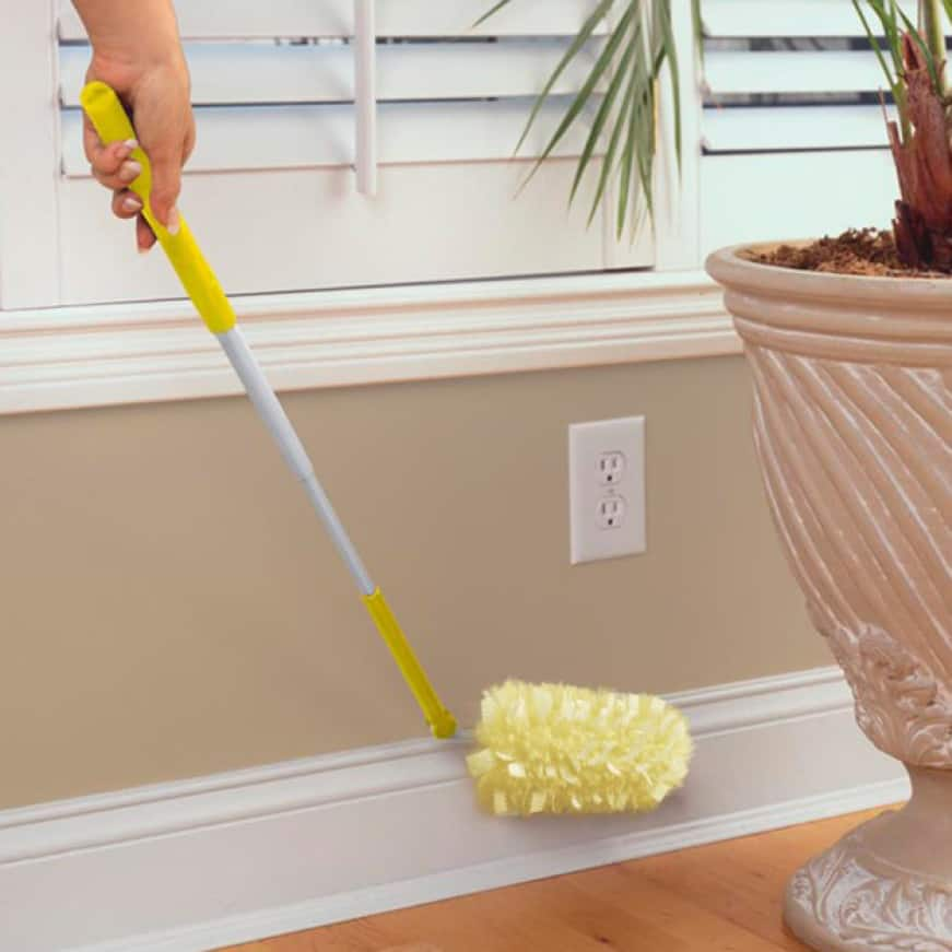 Swiffer Duster Heavy Duty Extendable provides three extra feet of clean making baseboards and furniture legs easy to reach.