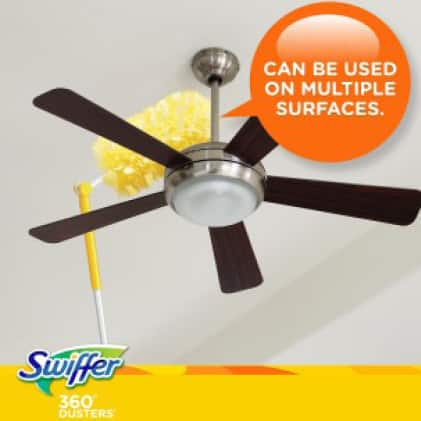 Super Duster Extendable Handle is perfect for hard to reach places like ceiling fans.