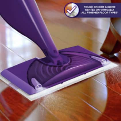 Swiffer WetJet Floor Spray Mop is approved for cleaning all finished hardwood floors.