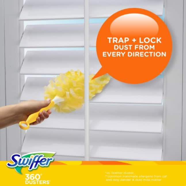 Open the blinds and let in all that…dust? Yuck. Remove dust, not welcome it in with Swiffer Dusters.