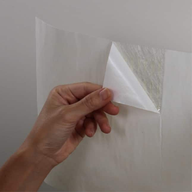 Peel off backing