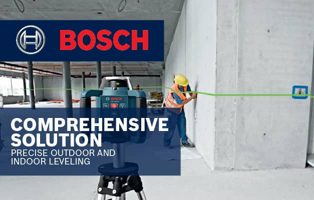 Bosch GRL300HVG being used by 1 person to level out space.