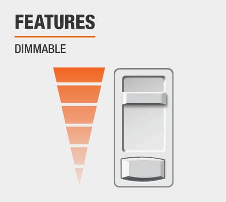 Product feature: Dimmable