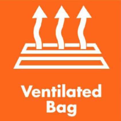 Small holes provide ventilation