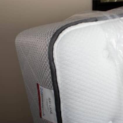 Mattress covered by mattress bag