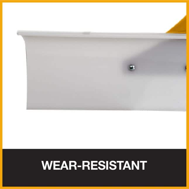Wear-resistant nylon snow pusher