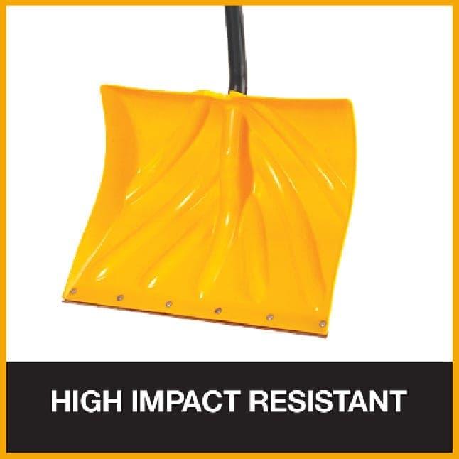 High impact resistant poly snow shovels