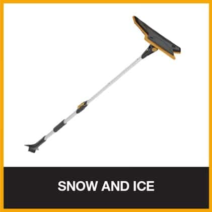 Scratch-free snow brush for removing snow and ice from your car