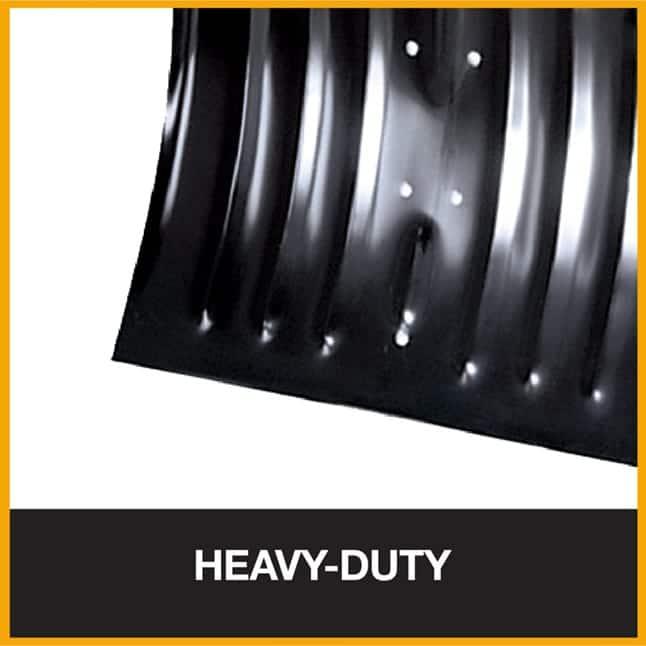 Heavy-duty steel snow shovel