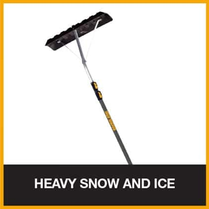 Telescoping roof rake for removing heavy snow from your house