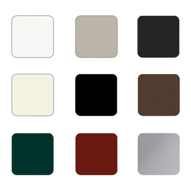 Color swatches to show several choices for clad wood exterior color