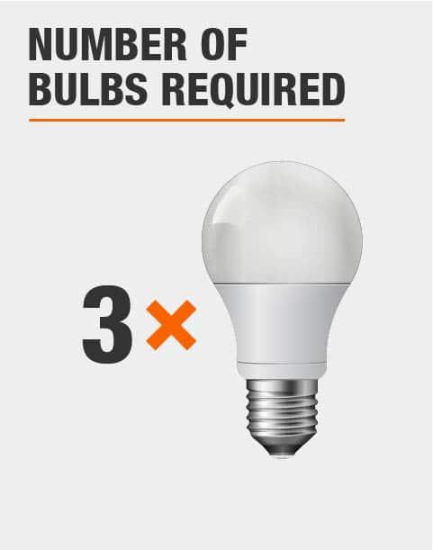 3 Light Bulbs Required