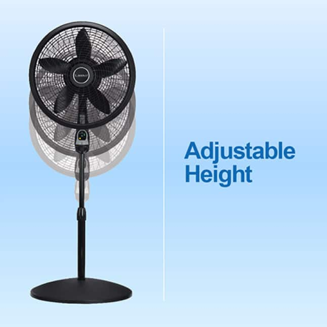 Lasko standing fan with adjustable height