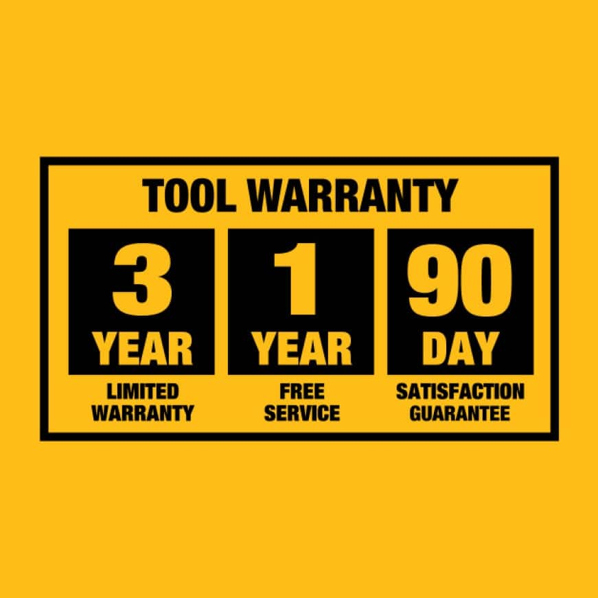 3-Year limited warranty, 1 year free service and 90-day money back guarantee.