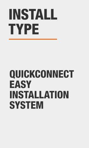 glacier bay Quickconnect easy installation system