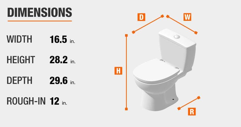 Glacier Bay Toilet Dimensions