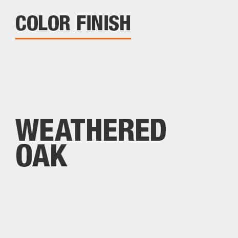 This bathroom vanity mirror color finish is Weathered Oak