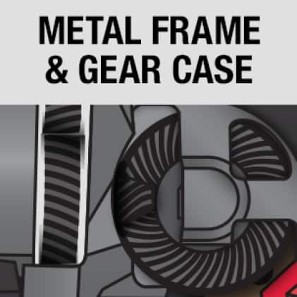 Delivered by all-metal gears and an integrated metal frame