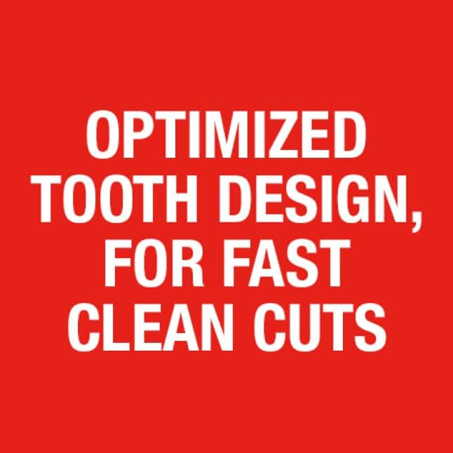 For Fast Clean Cuts