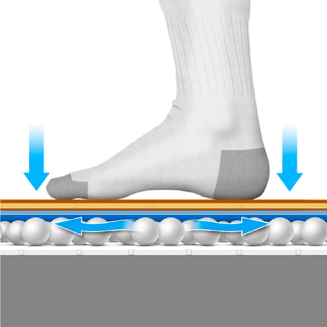 Air movement safely releases moisture to keep flooring  and subfloors safe and dry