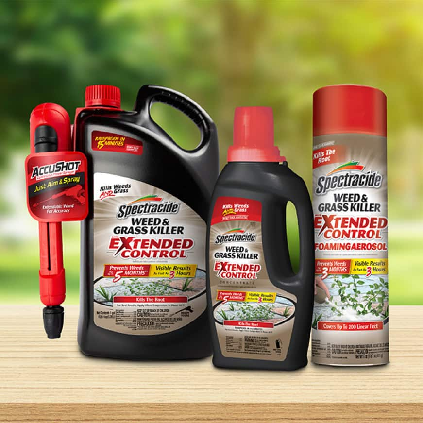 three bottles of weed and grass killer extended control
