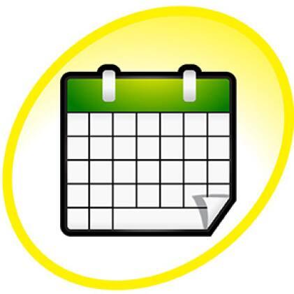 calendar icon with green header