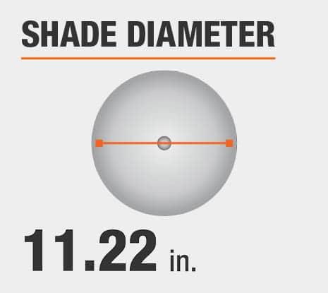 Shade Diameter: 11.22 in.