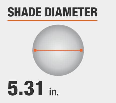 Shade Diameter: 5.31 in.