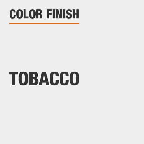 This bathroom vanity mirror color finish is Tobacco