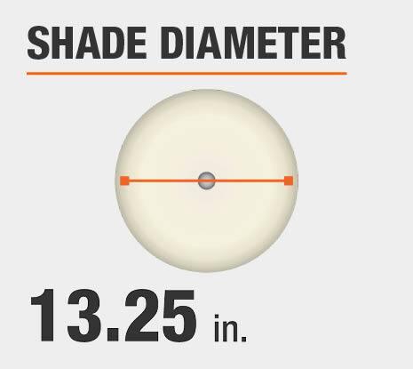 Shade Diameter: 13.25 in.