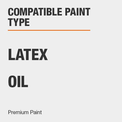 compatible with Premium Latex and oil based paints